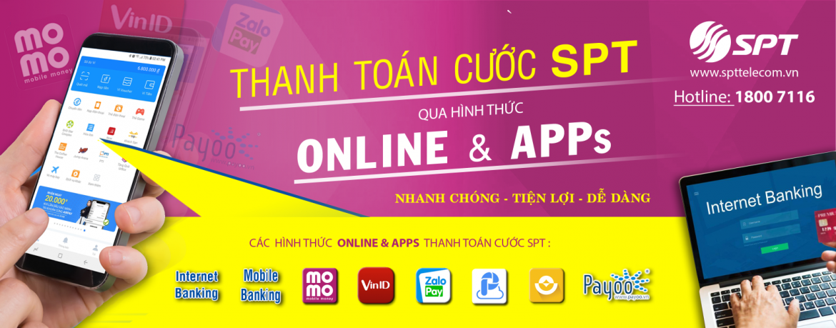 spttelecom - thanh toan cuoc online- silde